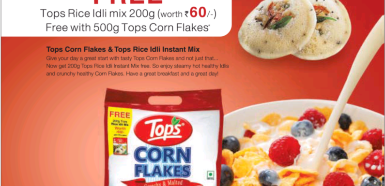 Tops corn flakes and the choice of models in their advertisement