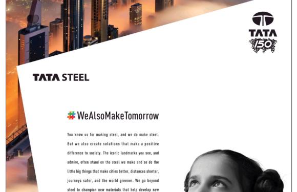 Tata Steels' new campaign – We Also Make Tomorrow
