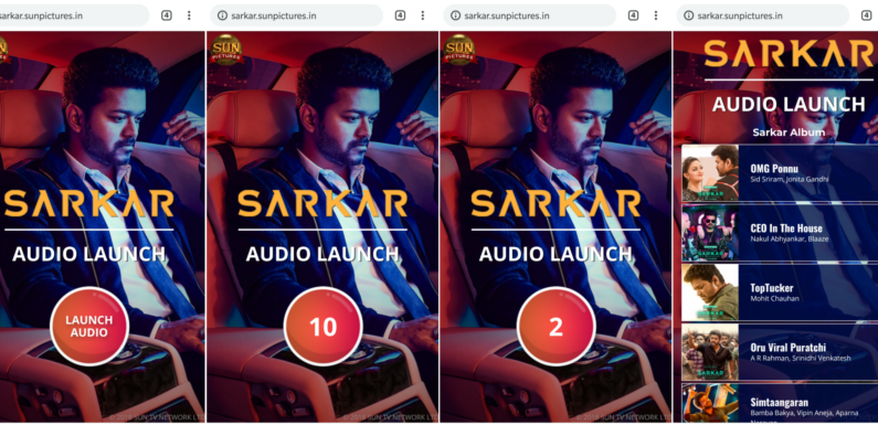 Sarkar music launch and the death of the music CD