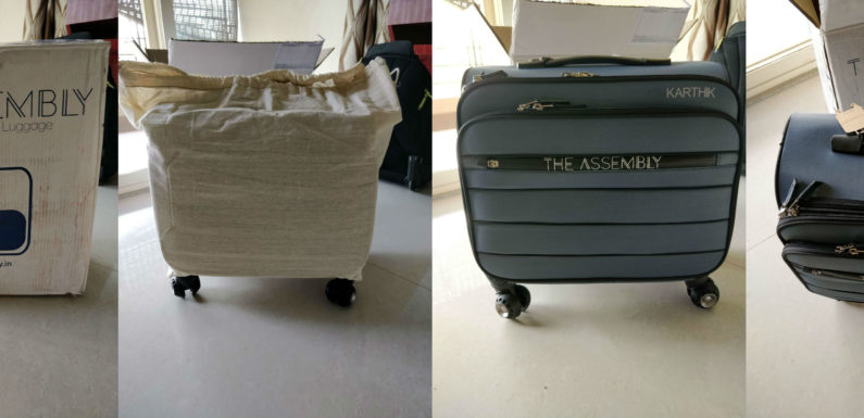 The Valise, from Assembly, seems really like thoughtful business luggage!
