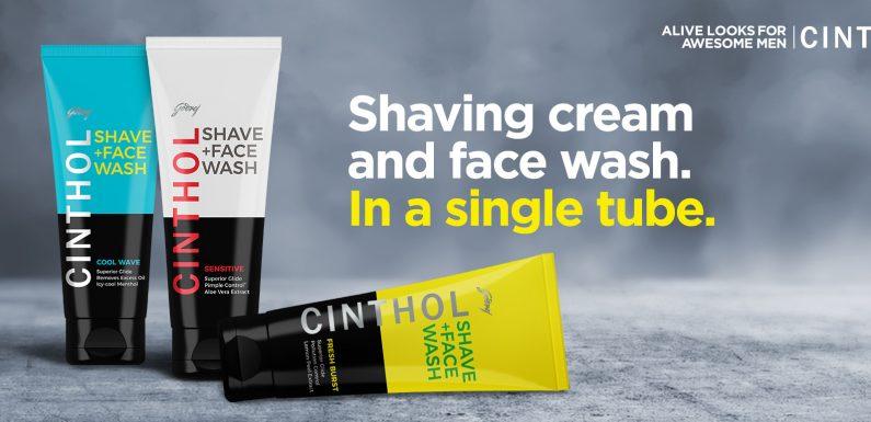 Cinthol's shave bhi, aur face wash bhi!