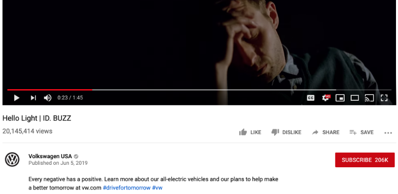 Volkswagen owns up to the emissions scandal in its new 'Hello Light' ad!