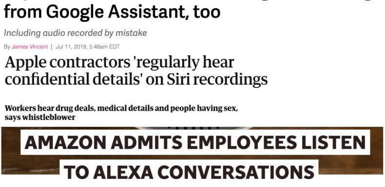Are you listening… Siri, Google and Alexa?