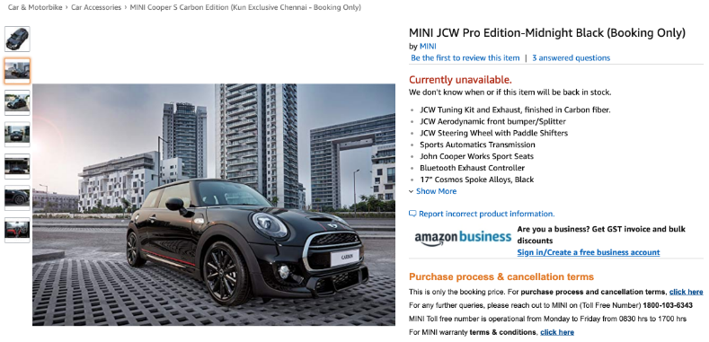 Your next car through 2-day delivery on Amazon Prime?