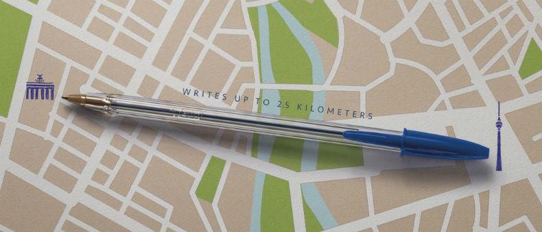 A L-O-N-G writing pen and a very creative idea