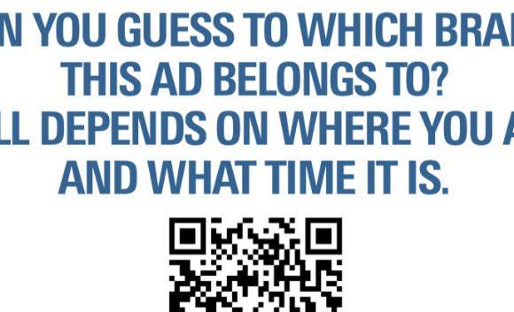 A programmatic print ad, courtesy QR code!