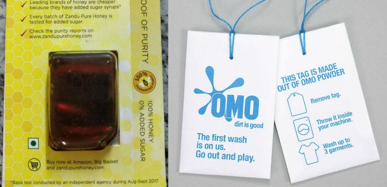 Sampling innovation – Zandu Pure Honey and Omo detergent