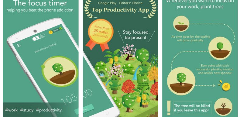 Plant a sapling on your phone and concentrate