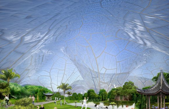 India's first super premium residential complex built entirely inside a clean air dome!