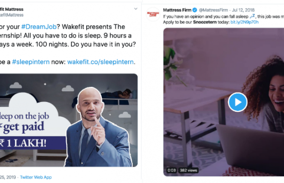 Wakefit's Sleep Internship vs. MattressFirm's Snoozetern