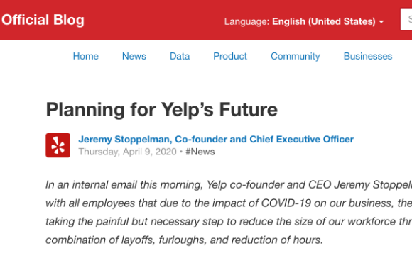 Layoffs and leadership communication lessons from Yelp