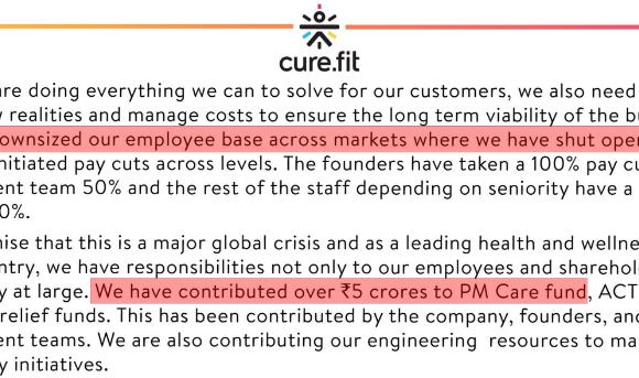 CureFit's Rs.5 crores communications blunder