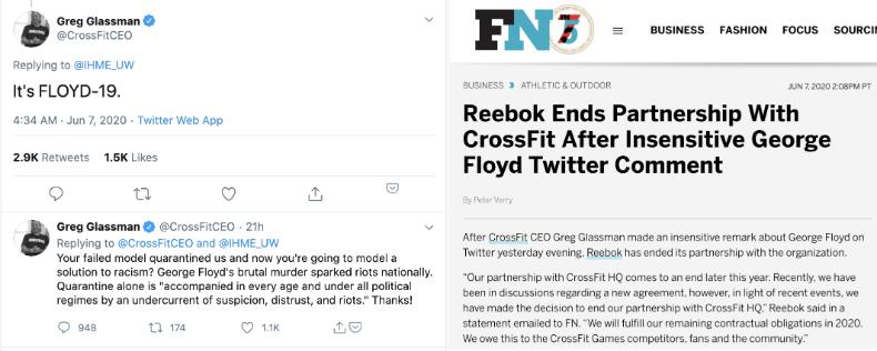 CrossFit CEO's Twitter trainwreck