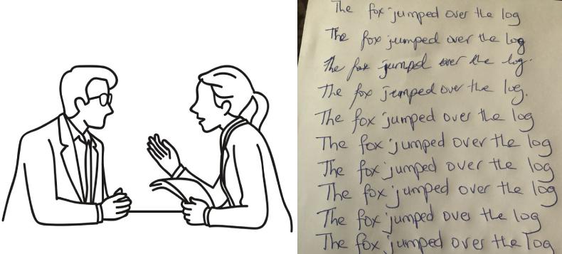 Offline meeting and handwriting