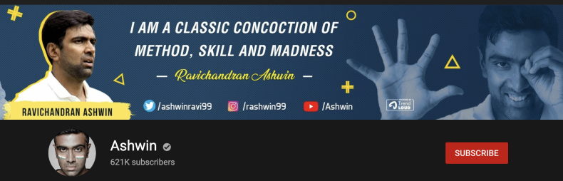 The personal re-branding of Ravichandran Ashwin