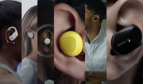 Advertising true wireless earphones/earbuds