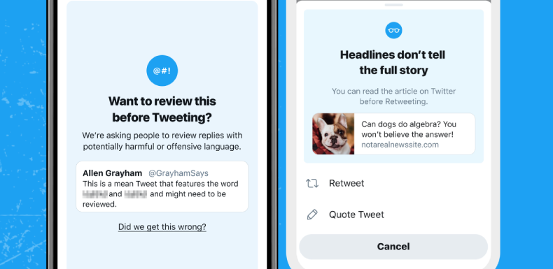 Twitter's nudges to do the right thing