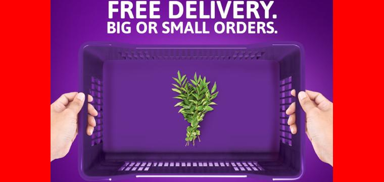 Order anything, however small, as often as you want?